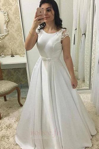 Robe de mariée Sans Manches Été Petit collier circulaire Longue - Page 1