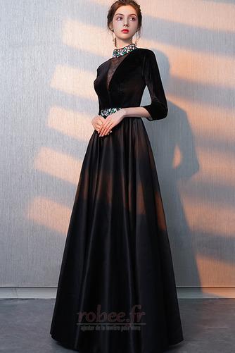 Robe de bal Fermeture éclair Montrer Luxueux A-ligne Col en V Foncé - Page 5