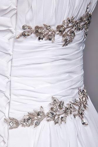 Robe de mariage Fourreau plissé Drapé Une épaule A-ligne Mousseline - Page 8