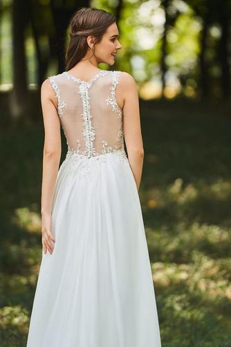 Robe de mariée Dos nu Col en V Drapé Sans Manches aligne De plein air - Page 5