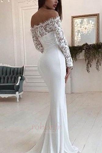 Robe de mariée Dentelle Traîne Courte Naturel taille Manche de T-shirt - Page 2
