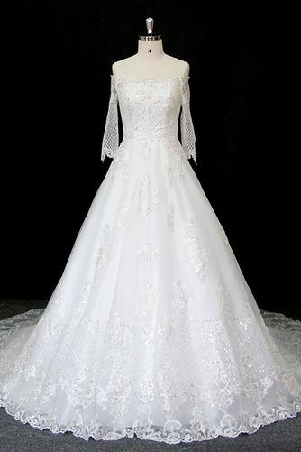 Robe de mariée Manche Longue Perler Formelle Naturel taille A-ligne - Page 1