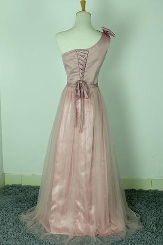 Robe de demoiselle d'honneur Rose Sans Manches Mariage Chic Nœud à Boucles - Page 2
