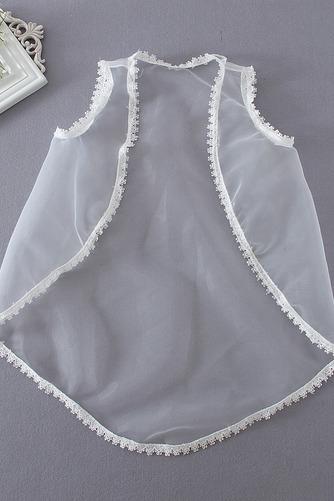 Robe de fille de fleur Longueur Mollet net Glissière Manche Courte - Page 4