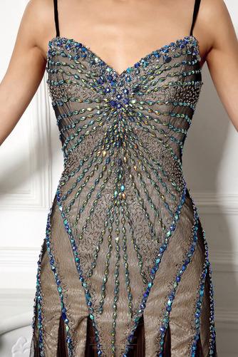 Robe de bal Dos nu Tulle Perler aligne Traîne Courte Luxueux - Page 5