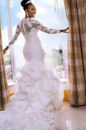 Robe de mariée Elégant Manche Aérienne Sirène De plein air Médium - Page 2