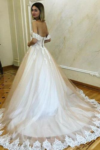 Robe de mariée Romantique Dentelle Mancheron Rosée épaule Automne - Page 2