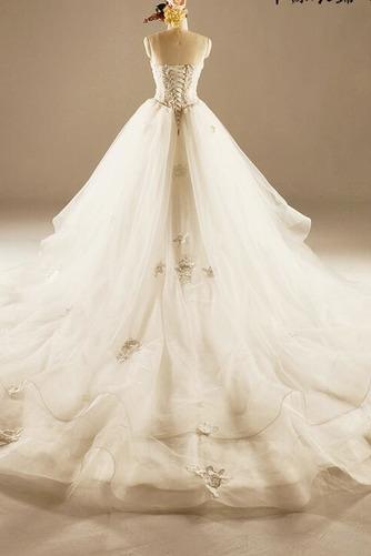 Robe de mariée Princesse Lacez vers le haut Tulle Eglise Col en Cœur - Page 2