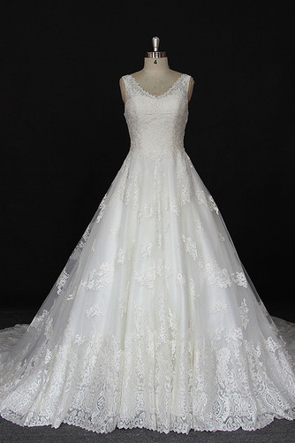 Robe de mariée Satin a ligne Printemps Traîne Longue Manquant - Page 1