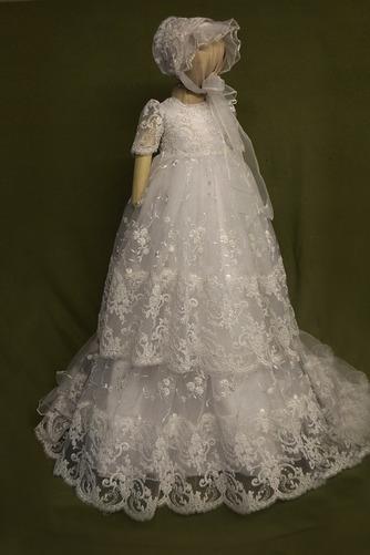 Robe de fille de fleur Bébé Col de chemise t Longue Haute Couvert - Page 1