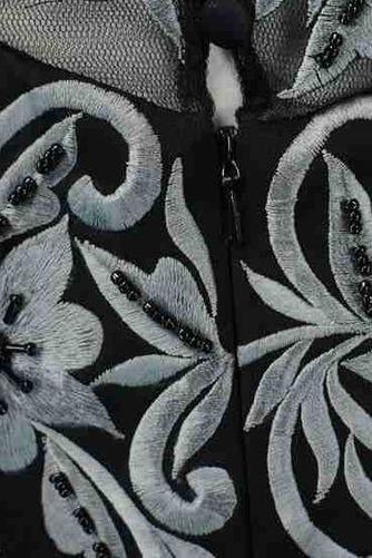 Robe mères Broderie Médium Mousseline A-ligne Luxueux Fermeture éclair - Page 5