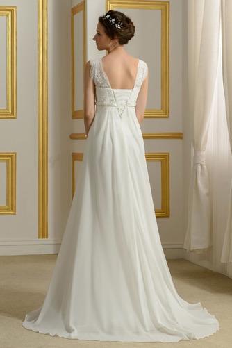 Robe de mariage Mousseline Empire Taille haute Couvert de Dentelle - Page 2