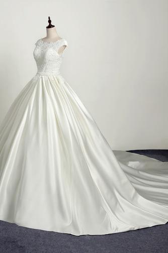 Robe de mariée Princesse Eglise Traîne Longue Manche Courte Satin - Page 4
