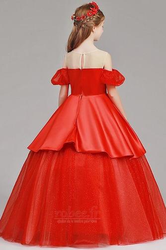 Robe de fille de fleur Tulle A-ligne Rosée épaule Trou De Serrure - Page 2