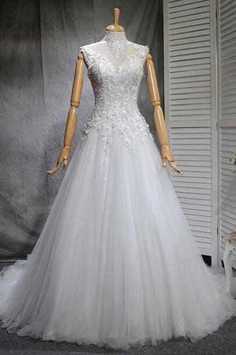 Robe de mariée Naturel taille Haute Couvert Satin A-ligne Manquant - Page 1
