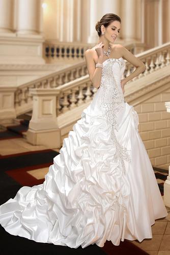 Robe de mariée Hiver Scintillait Princesse Asymétrique Satin - Page 5
