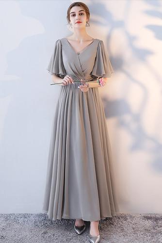 Robe de demoiselle d'honneur Laçage Sans Manches Mousseline A-ligne - Page 13