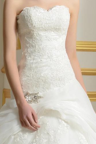 Robe de mariée Sans courroies Été A-ligne Organza Naturel taille - Page 4