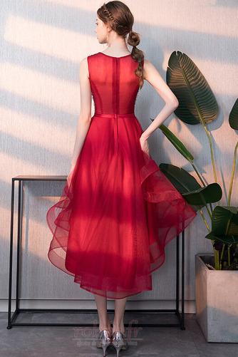Robe de cocktail Asymétrique Poire Chic Printemps Fourreau Avec Bijoux - Page 2