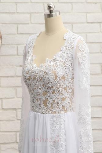 Robe de mariée A-ligne Longueur de plancher Manche Longue Plage - Page 4