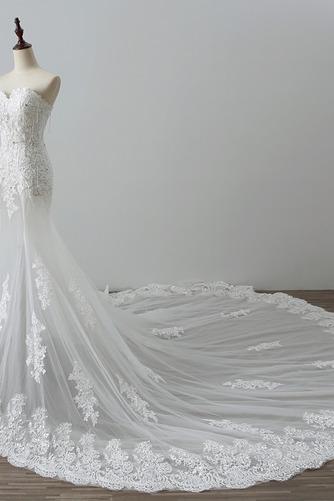 Robe de mariée Tulle Norme Automne Dépouillé Elégant Lacez vers le haut - Page 4