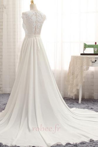 Robe de mariage Traîne Courte Fourchure Frontale Petit collier circulaire - Page 2