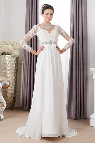 Robe de mariée Sexy Empire Traîne Courte Haut Bas Taille haute - Page 1