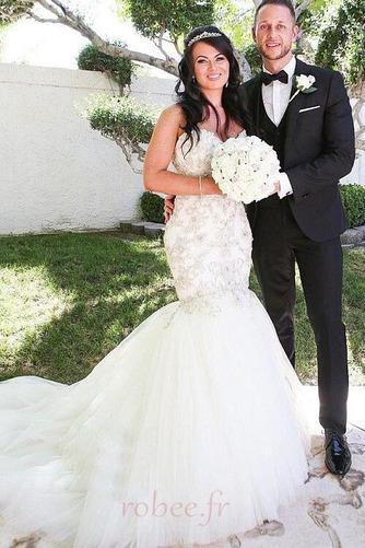 Robe de mariée Tulle Rivage col coeur Sans Manches Norme Perle - Page 1
