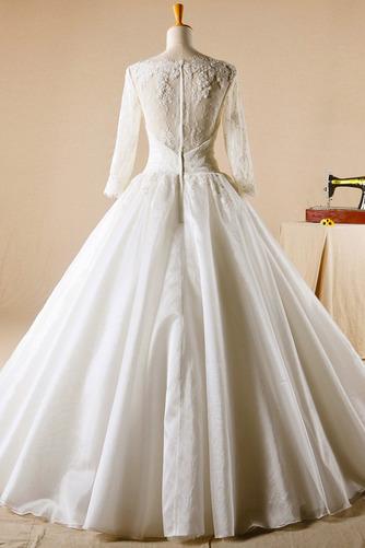 Robe de mariage Glissière Chapelle Formelle Traîne Courte Naturel taille - Page 2