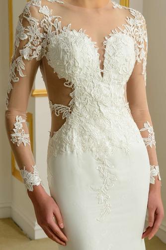 Robe de mariée Sans Manches Manquant Printemps Elégant Traîne Moyenne - Page 4
