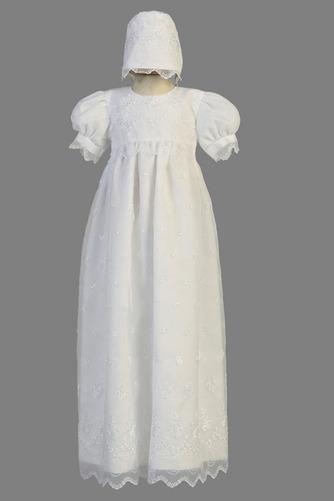 Robe de fille de fleur Manche Courte Organza Glissière Exquisite - Page 1