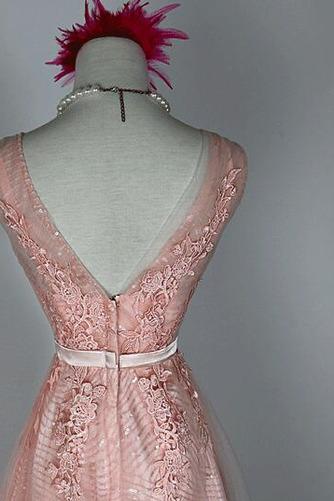 Robe de demoiselle d'honneur Chic A-ligne Glissière Rose Printemps - Page 3