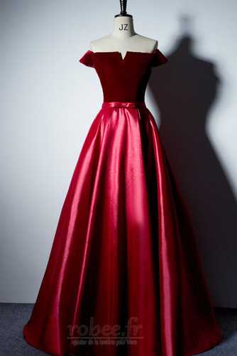 Robe de bal Laçage Rosée épaule Poches Fête Sans Manches a ligne - Page 11