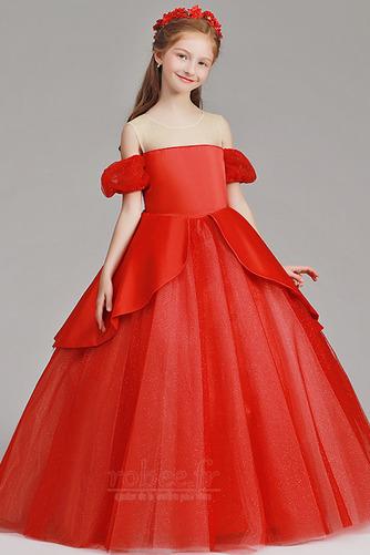 Robe de fille de fleur Tulle A-ligne Rosée épaule Trou De Serrure - Page 4