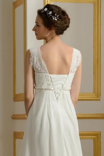 Robe de mariage Mousseline Empire Taille haute Couvert de Dentelle - Page 5