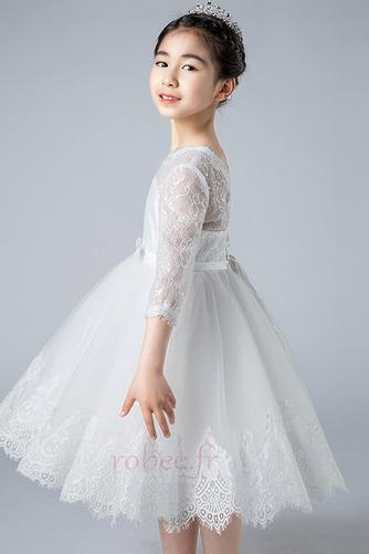 Robe de fille de fleur Dos nu Col de chemise t Couvert de Dentelle - Page 4