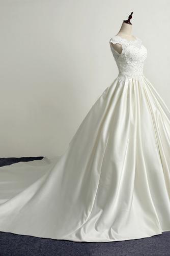 Robe de mariée Princesse Eglise Traîne Longue Manche Courte Satin - Page 3