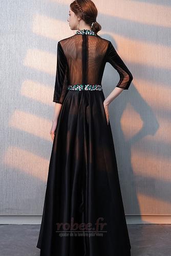 Robe de bal Fermeture éclair Montrer Luxueux A-ligne Col en V Foncé - Page 2