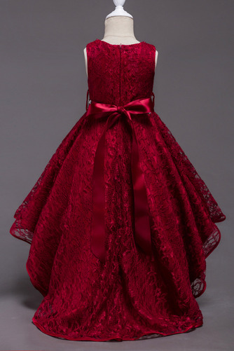 Robe de fille de fleur Col de chemise t Satin Mode Sans Manches - Page 2
