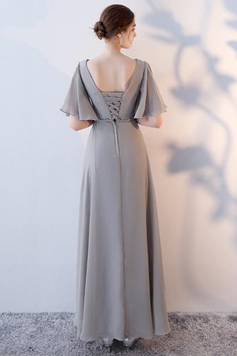 Robe de demoiselle d'honneur Laçage Sans Manches Mousseline A-ligne - Page 14