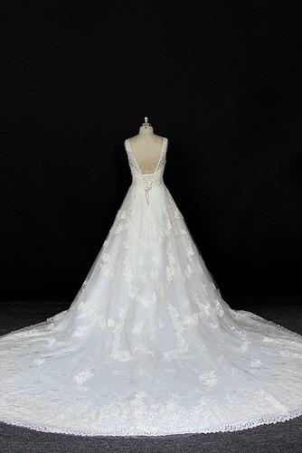 Robe de mariée Satin a ligne Printemps Traîne Longue Manquant - Page 2
