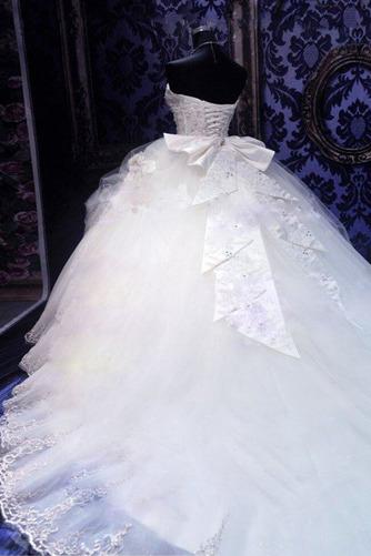 Robe de mariée Tulle Col en Cœur Eglise Sans Manches Ancien Cristal - Page 3