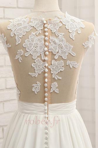 Robe de mariage Traîne Courte Fourchure Frontale Petit collier circulaire - Page 6