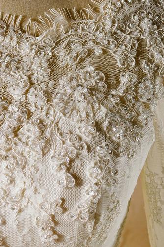 Robe de mariage Glissière Chapelle Formelle Traîne Courte Naturel taille - Page 3