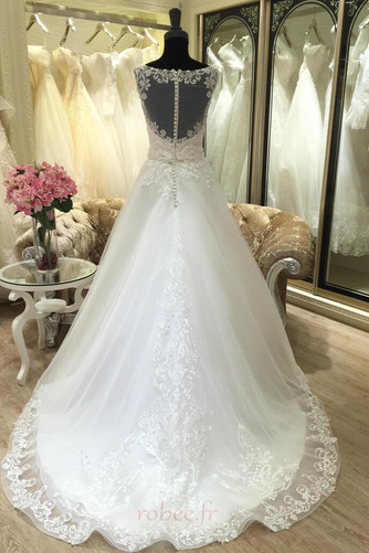 Robe de mariée Appliquer Satin Col Bateau Printemps Formelle - Page 2