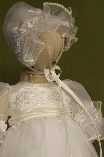 Robe de fille de fleur Dentelle Cérémonie Longue Naturel taille - Page 3