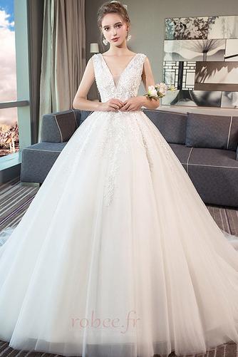 Robe de mariage Norme A-ligne Sans Manches Formelle Automne Naturel taille - Page 1