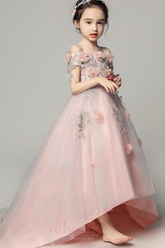 Robe de fille de fleur Satin Fleurs Été Fermeture à glissière - Page 4