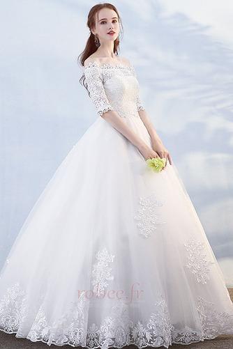Robe de mariée Formelle Manche Demi Salle Longueur au sol A-ligne - Page 3