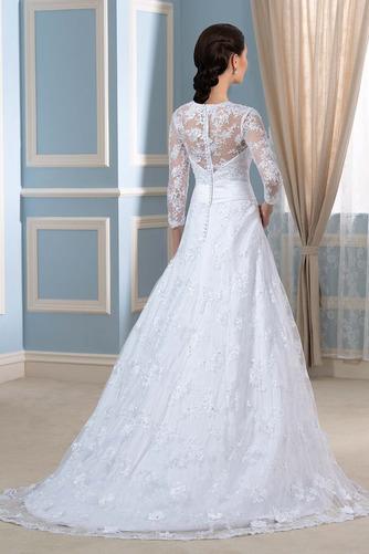 Robe de mariée Formelle Satin Chapelle Col en V Fermeture à glissière - Page 2